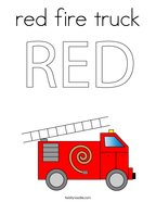 red fire truck Coloring Page