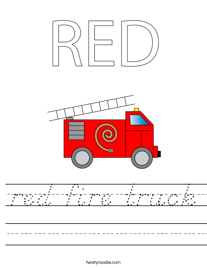RED Fire truck Worksheet