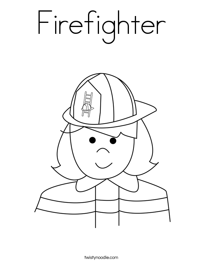 Firefighters Coloring Pages Twisty Noodle