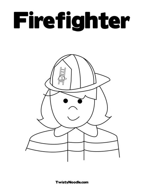 a fire fighter coloring pages Firefighter Coloring Pages for Preschool  Coloring Firefighter