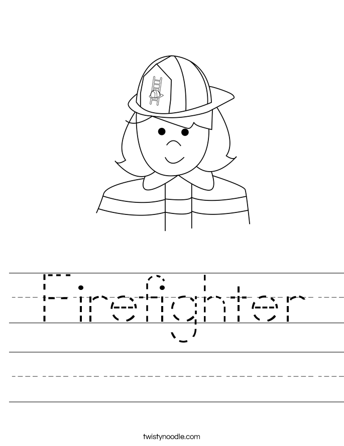 Firefighter Worksheet Twisty Noodle