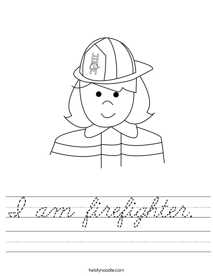 I am firefighter.  Worksheet