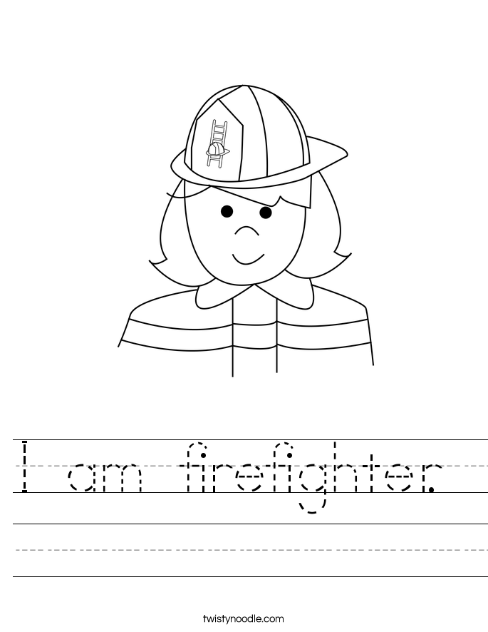 I am firefighter.  Worksheet
