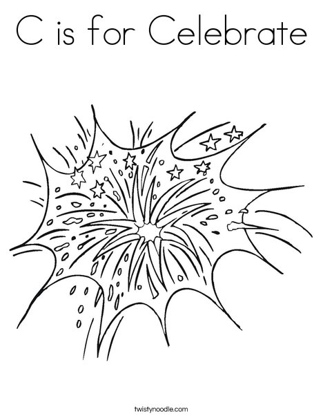 Fireworks in the Sky Coloring Page