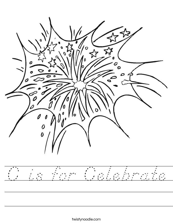 C is for Celebrate Worksheet