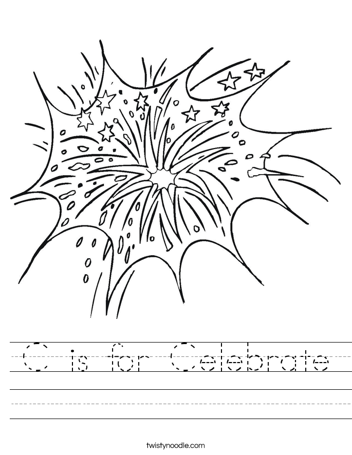 C is for Celebrate Worksheet