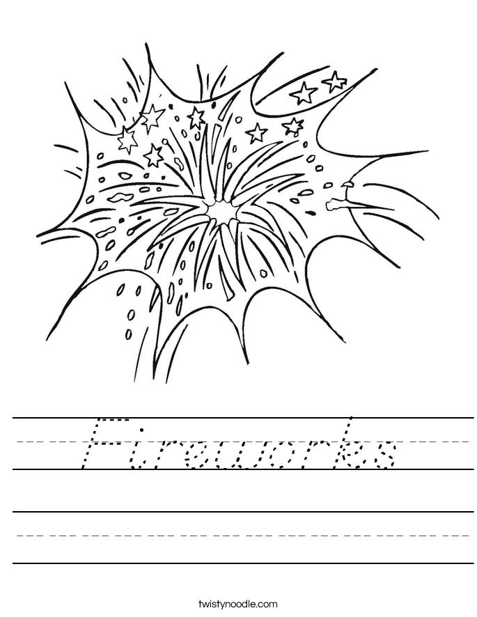 fireworks worksheet d 39 nealian twisty noodle. Black Bedroom Furniture Sets. Home Design Ideas