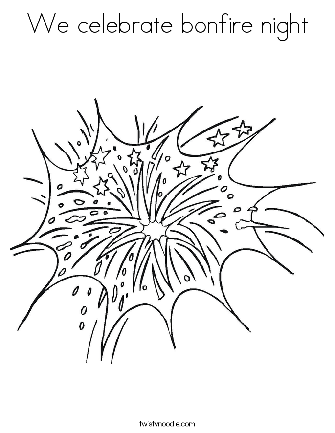 We celebrate bonfire night Coloring Page