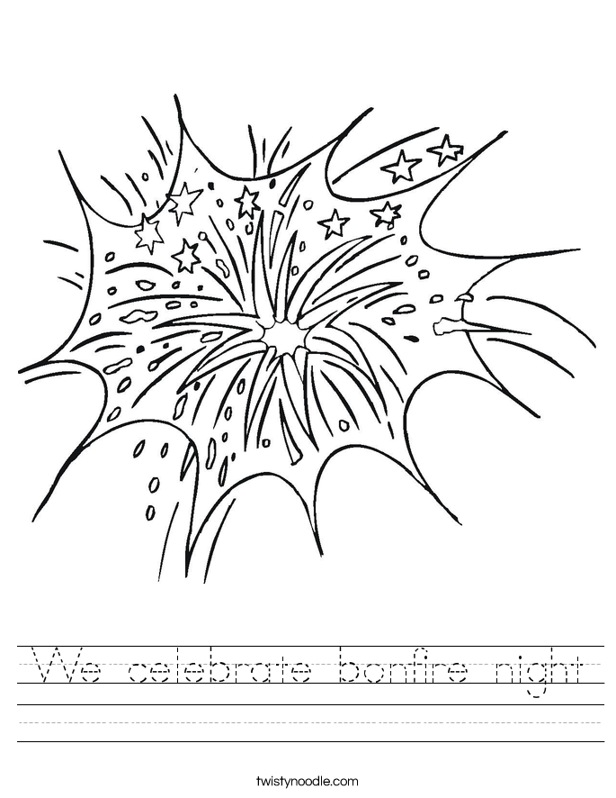 We celebrate bonfire night Worksheet
