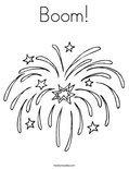 Boom!Coloring Page