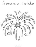 fireworks on the lake Coloring Page
