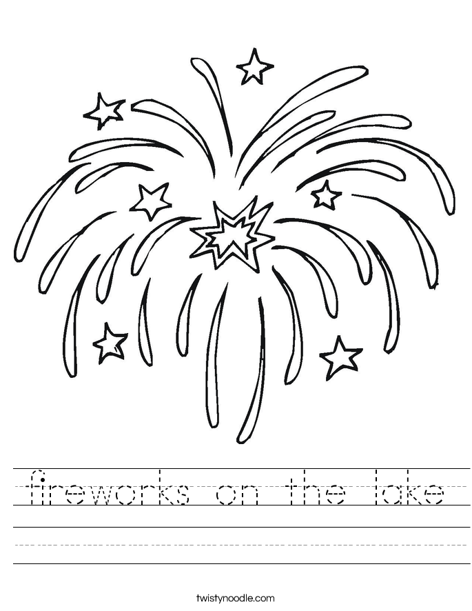 fireworks on the lake Worksheet