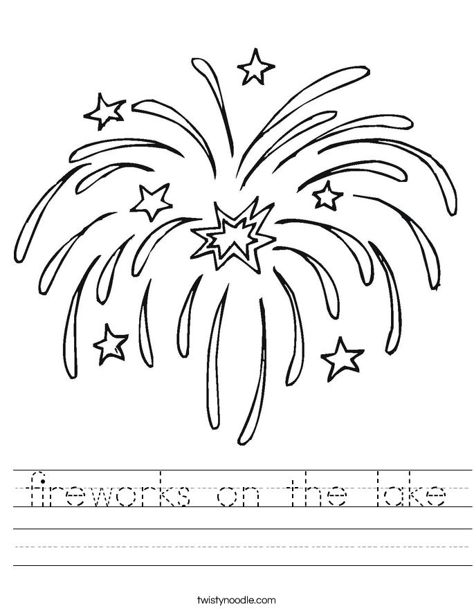 fireworks on the lake Worksheet