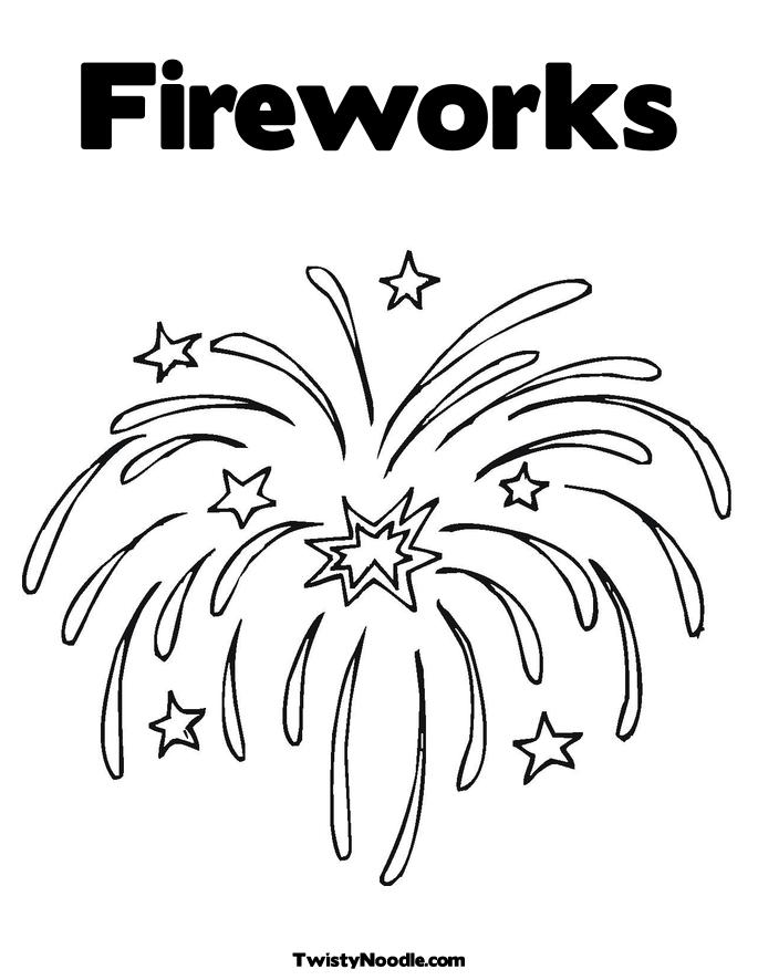 Free Coloring Pages Fireworks Coloring Page