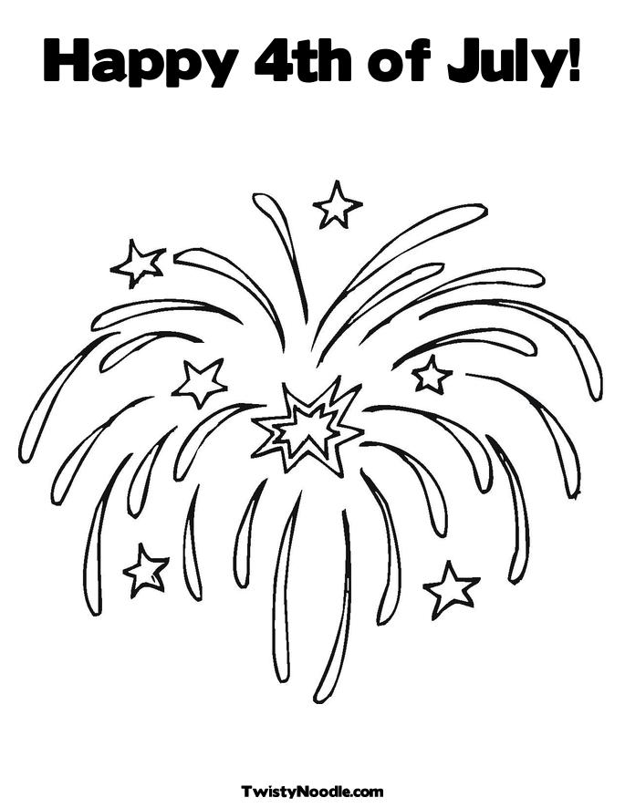 fourth of july fireworks coloring pages. Fireworks Coloring Page.