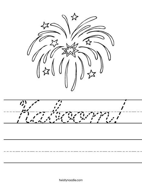 Fireworks Worksheet