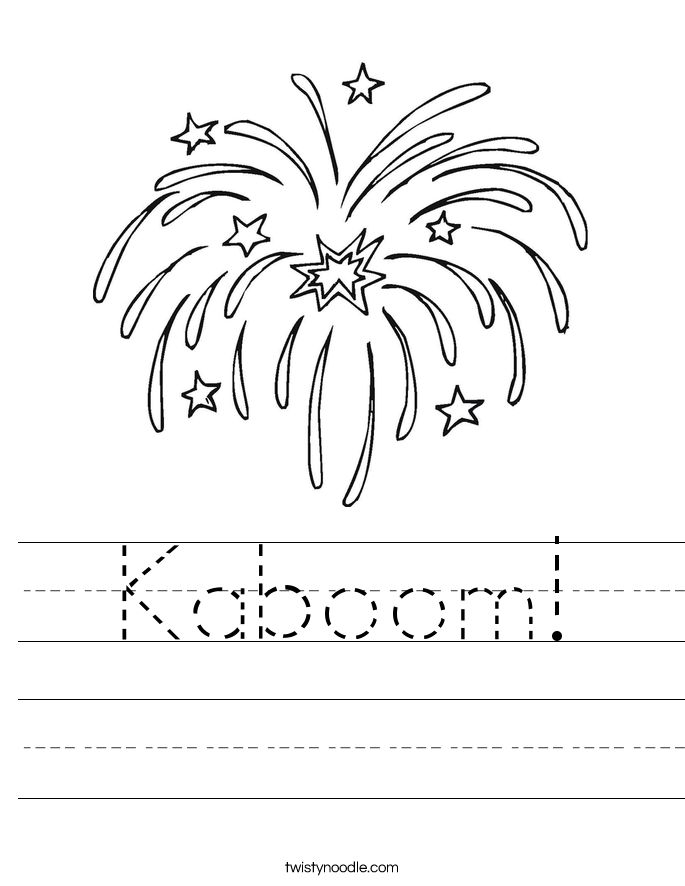 Kaboom! Worksheet