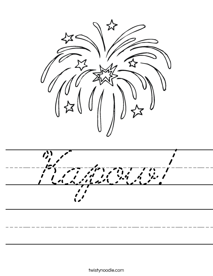 Kapow! Worksheet