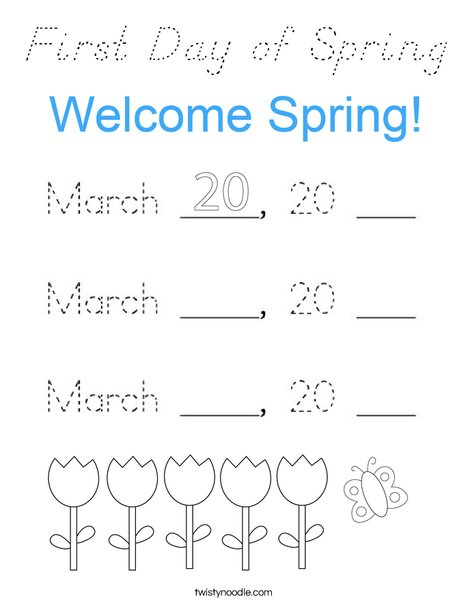 Today is March 20, 2020 Coloring Page