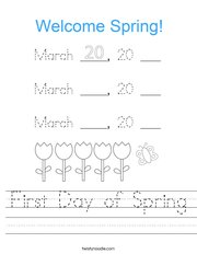 Today is March 20, 2020 Worksheet