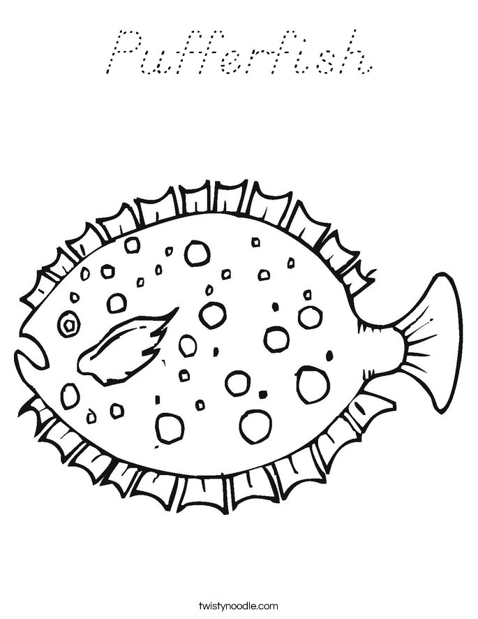 Pufferfish Coloring Page