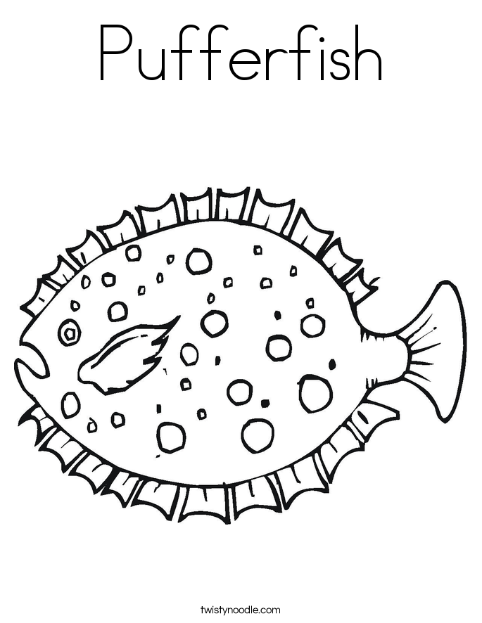 ocean puffer fish coloring pages free - photo #11