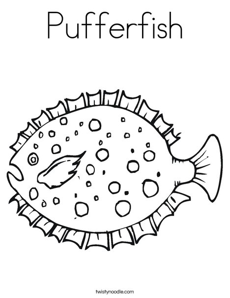 Pufferfish Coloring Page Twisty Noodle