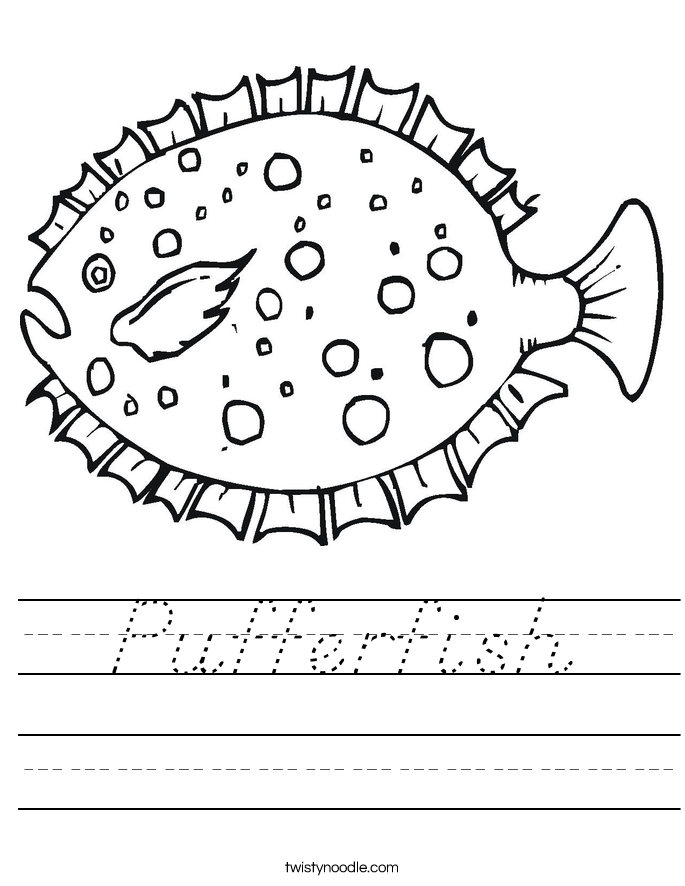 Pufferfish Worksheet