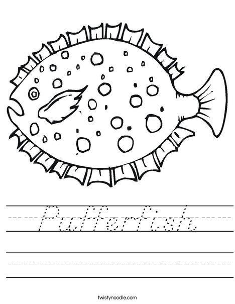 Puffer Fish Worksheet
