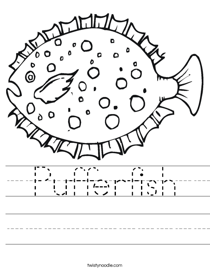 Pufferfish Worksheet