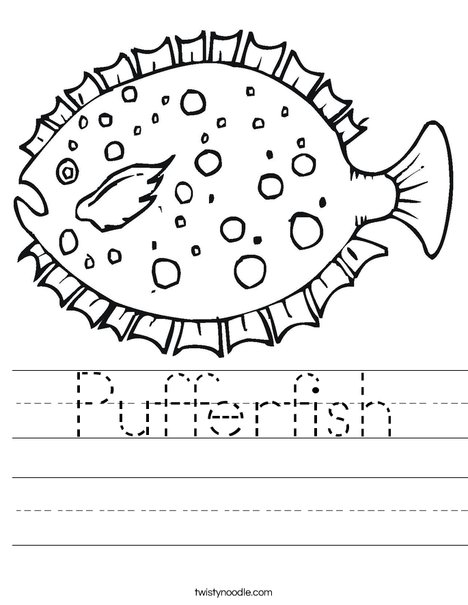 Puffer Fish Worksheet