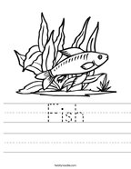 Fish Handwriting Sheet