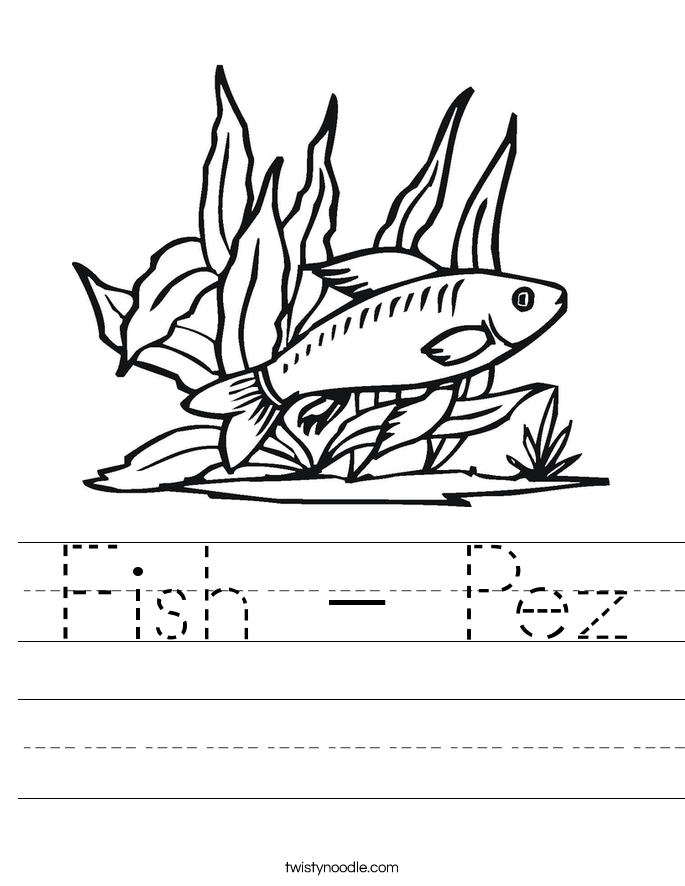 Fish - Pez Worksheet
