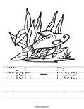Fish - Pez Worksheet