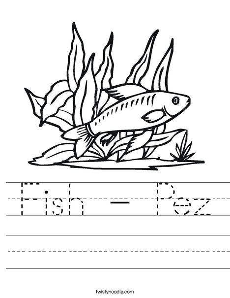 Fish in Seaweed Worksheet