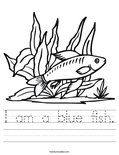 I am a blue fish. Worksheet
