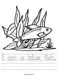 I am a blue fish. Worksheet