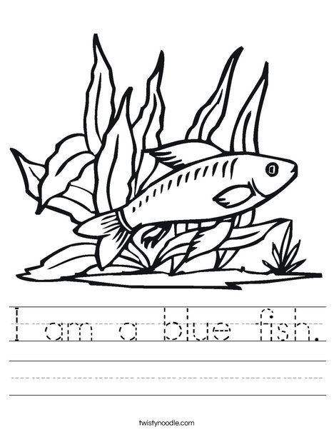 Fish in Seaweed Worksheet