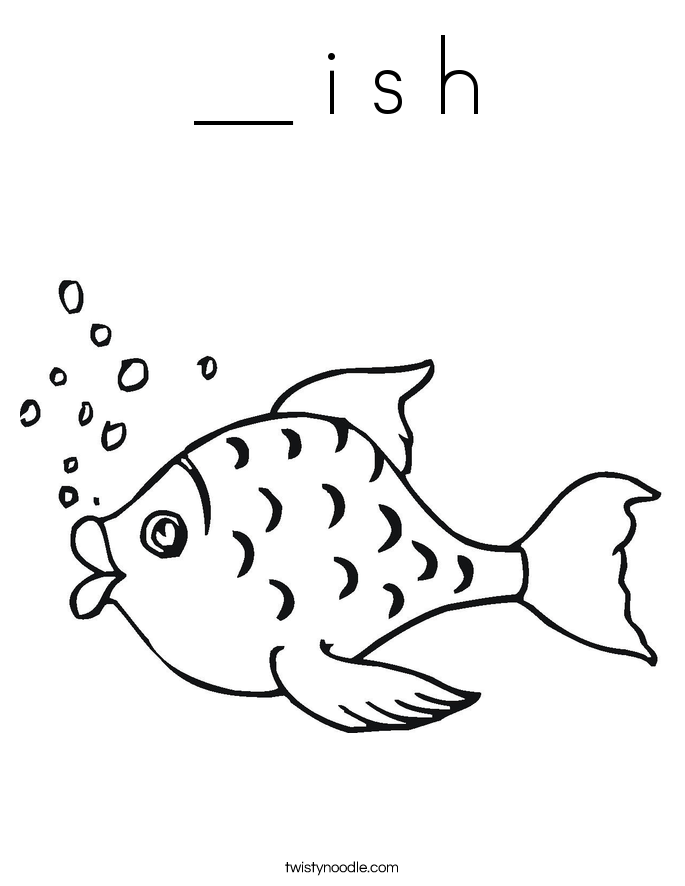 __ i s h Coloring Page