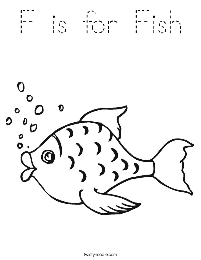 f for fish coloring pages - photo #15