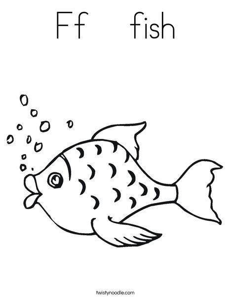 ff fish coloring page