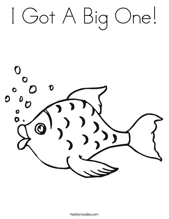 I Got A Big One! Coloring Page