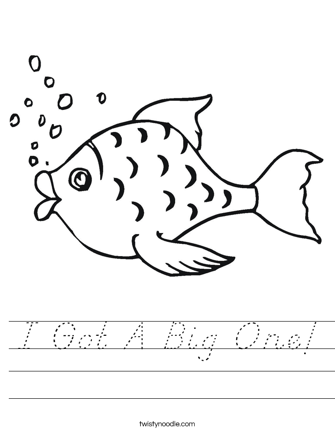 I Got A Big One! Worksheet