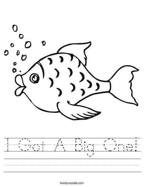 Fish with Bubbles Worksheet