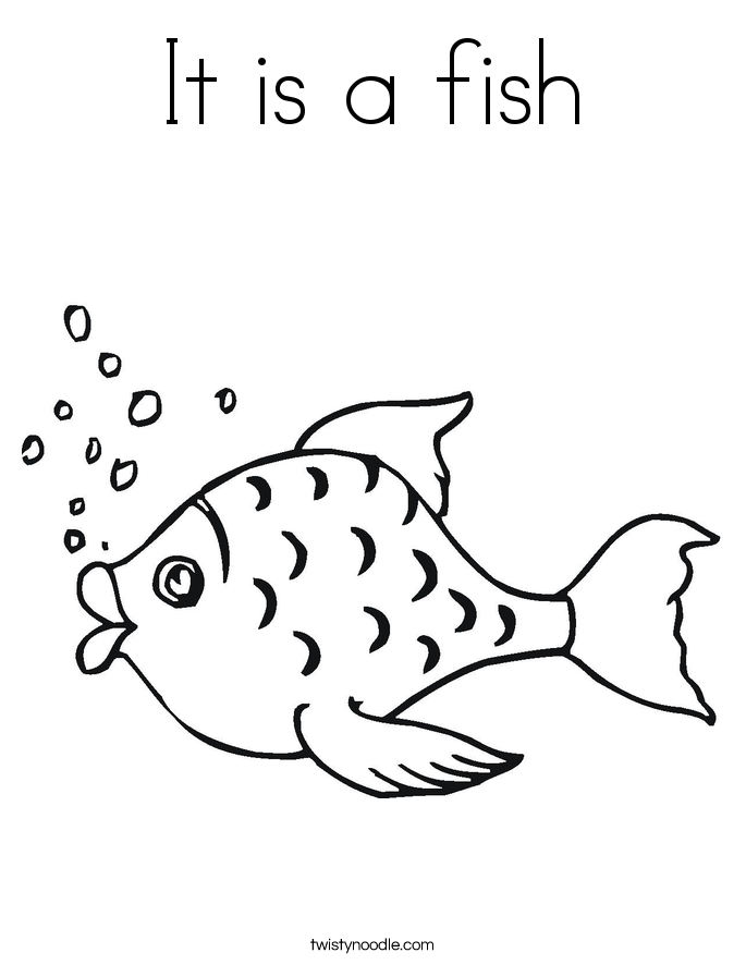 It is a fish Coloring Page