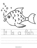 It is a fish Worksheet