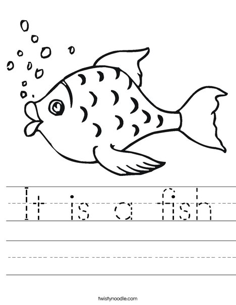 It is a fish Worksheet - Twisty Noodle