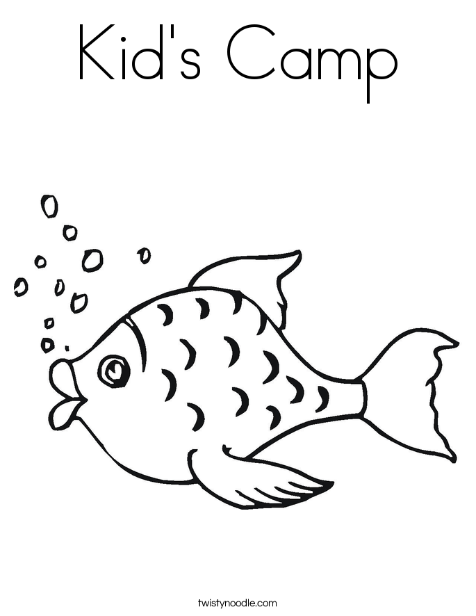 Kid's Camp Coloring Page