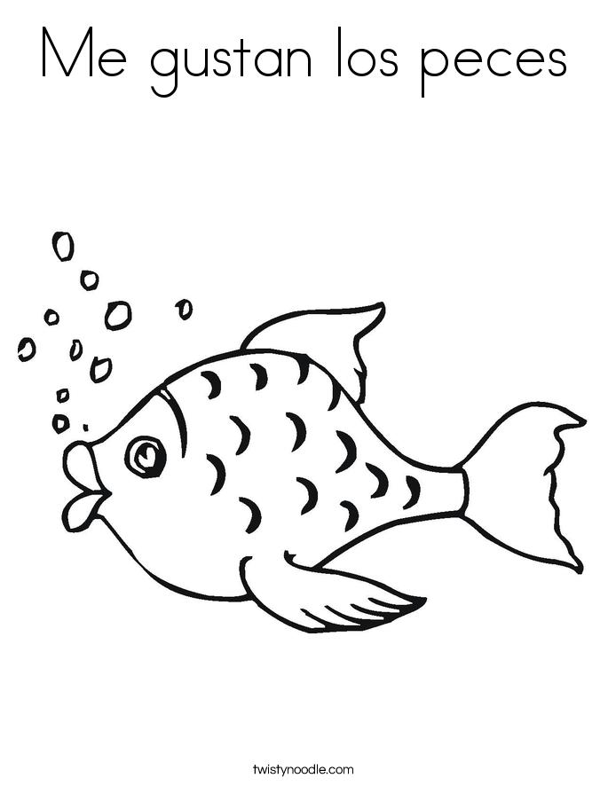 Me gustan los peces Coloring Page