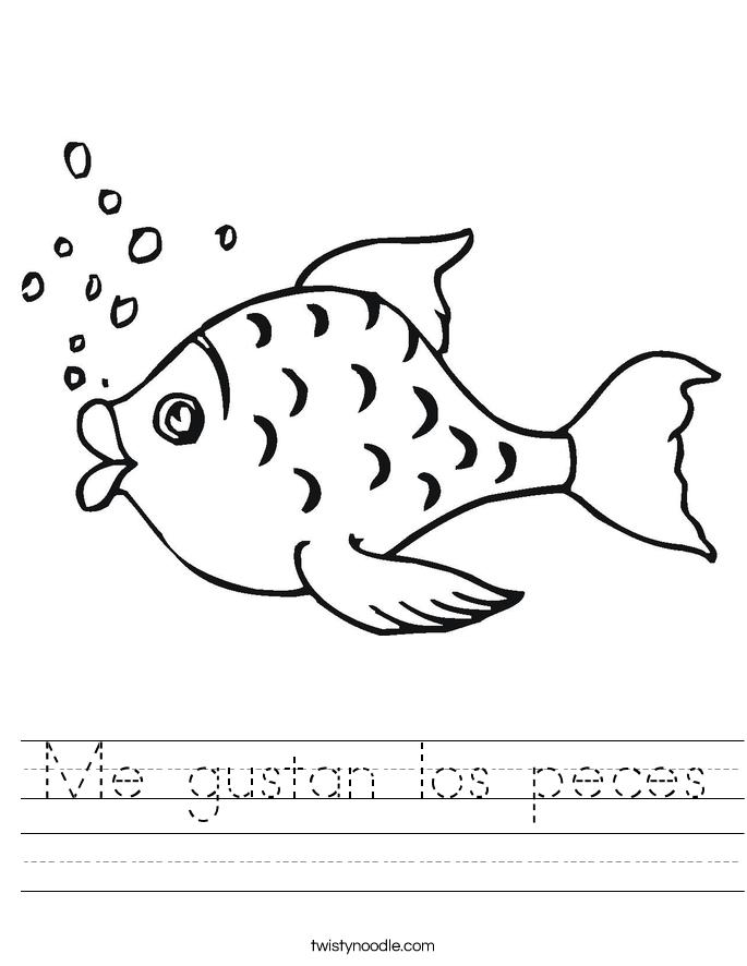 Me gustan los peces Worksheet